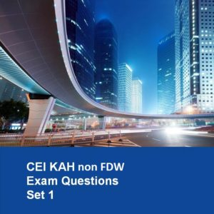 CEI KAH non FDW Exam Questions (Set 1)